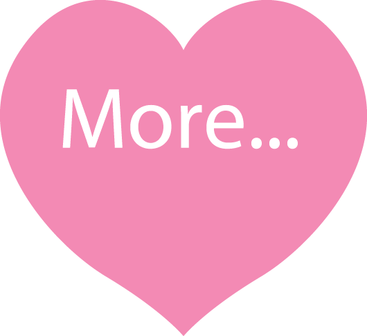 Pink heart with the word More inside it