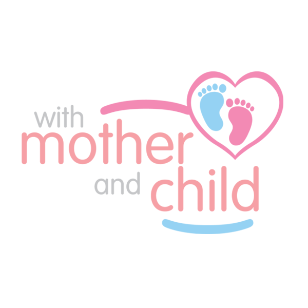 With Mother and Child logo